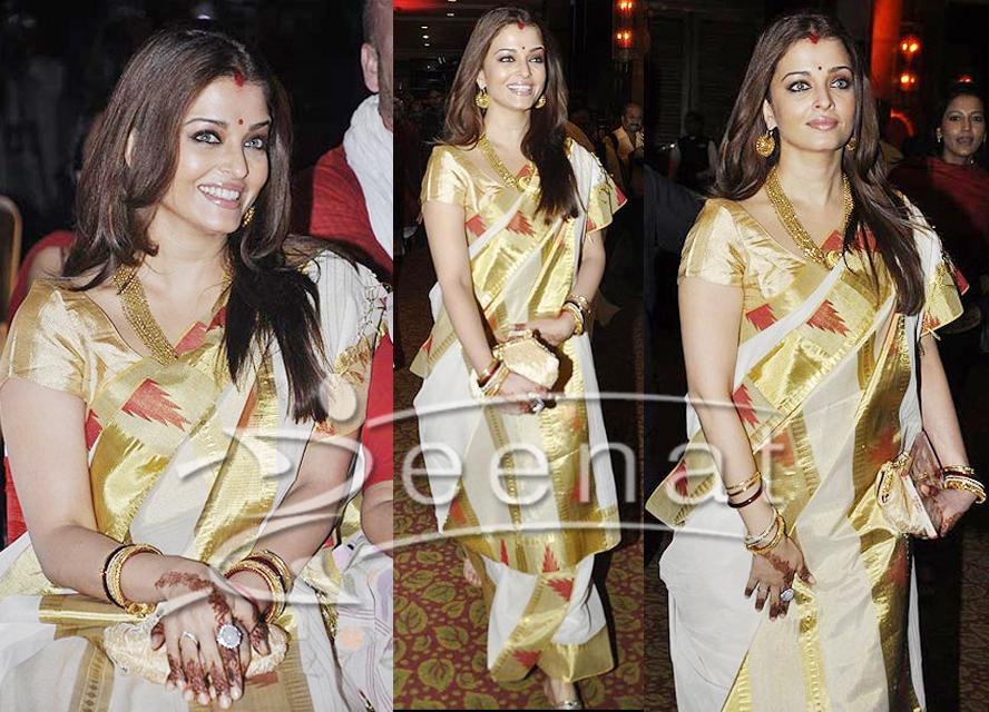 Aishwarya Rai In Jamawar Saree