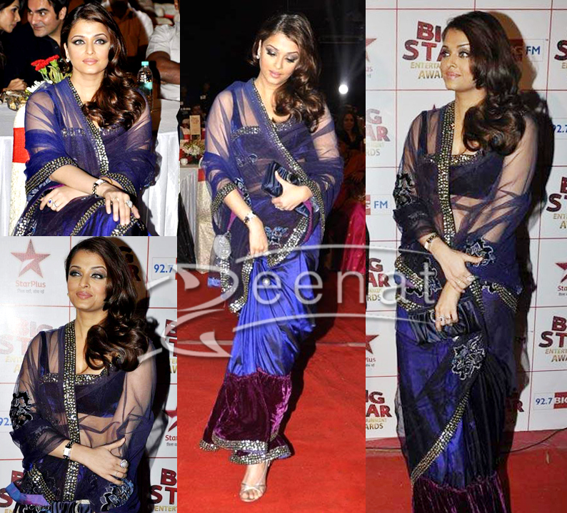 Bollywood Net Saree Aishwarya Rai Bachan