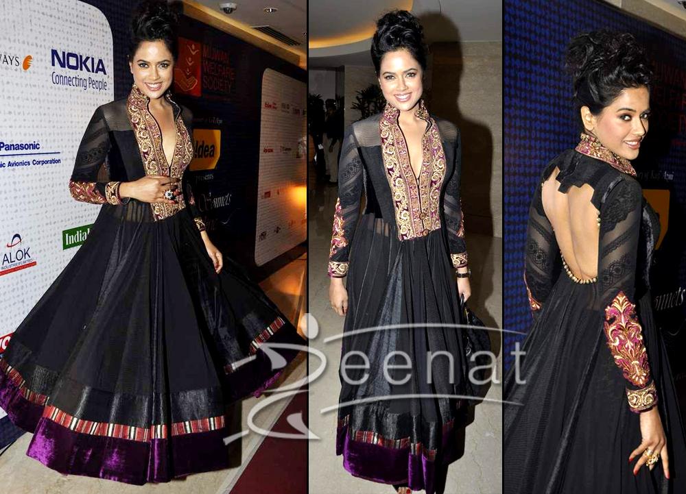 Designer Bollywood Frock Sameera Reddy