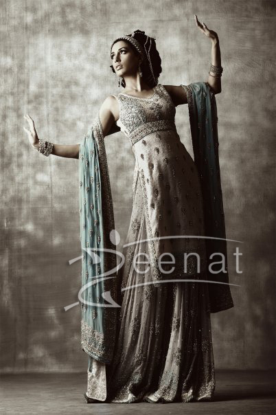 Embroidered Bridal Gharara Style On Iman Ali