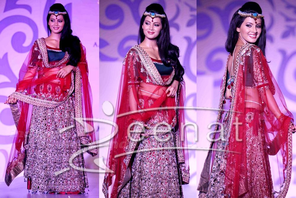 Geeta Basra In Designer Lehenga Choli Style