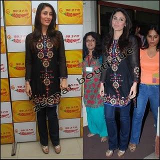Kareena In Casual Black Tunic/Top