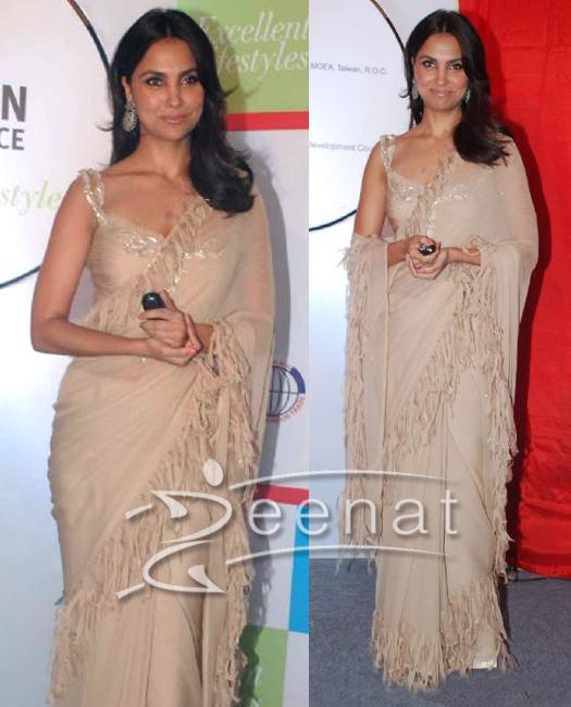 Lara Dutta In Designer Saree Style