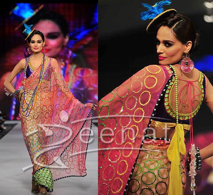 Mehreen Syed Designer Saree Style