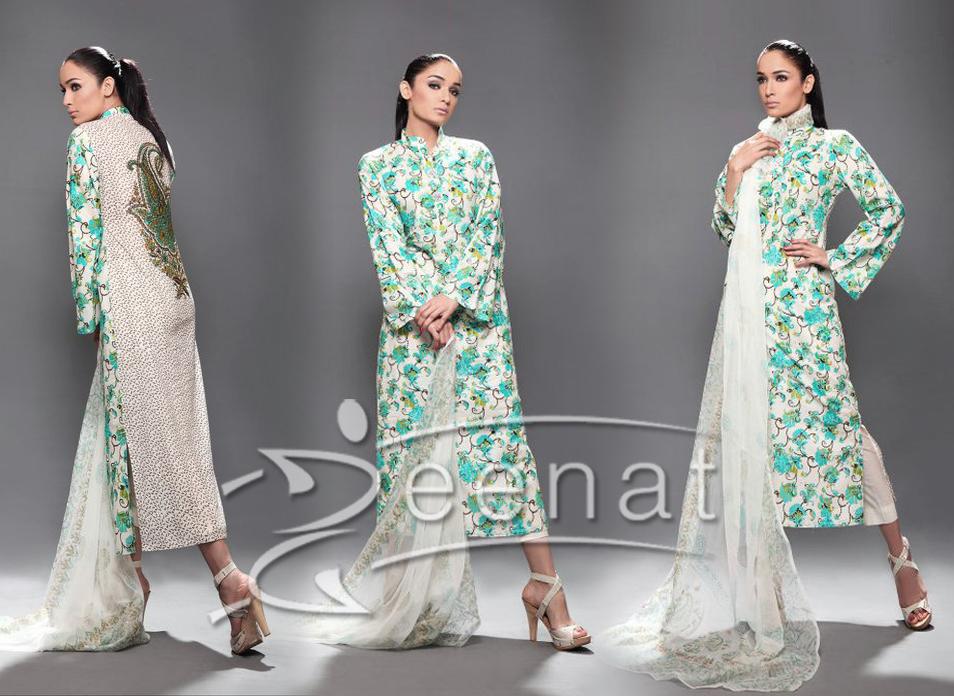 Parallel Printed A Line Dress on Nisha Paul