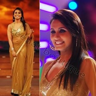 Rani Mukherjee In Golden Designer Saree