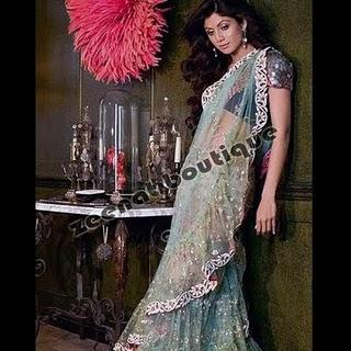 Shilpa In Saree For Harper's Bazaar