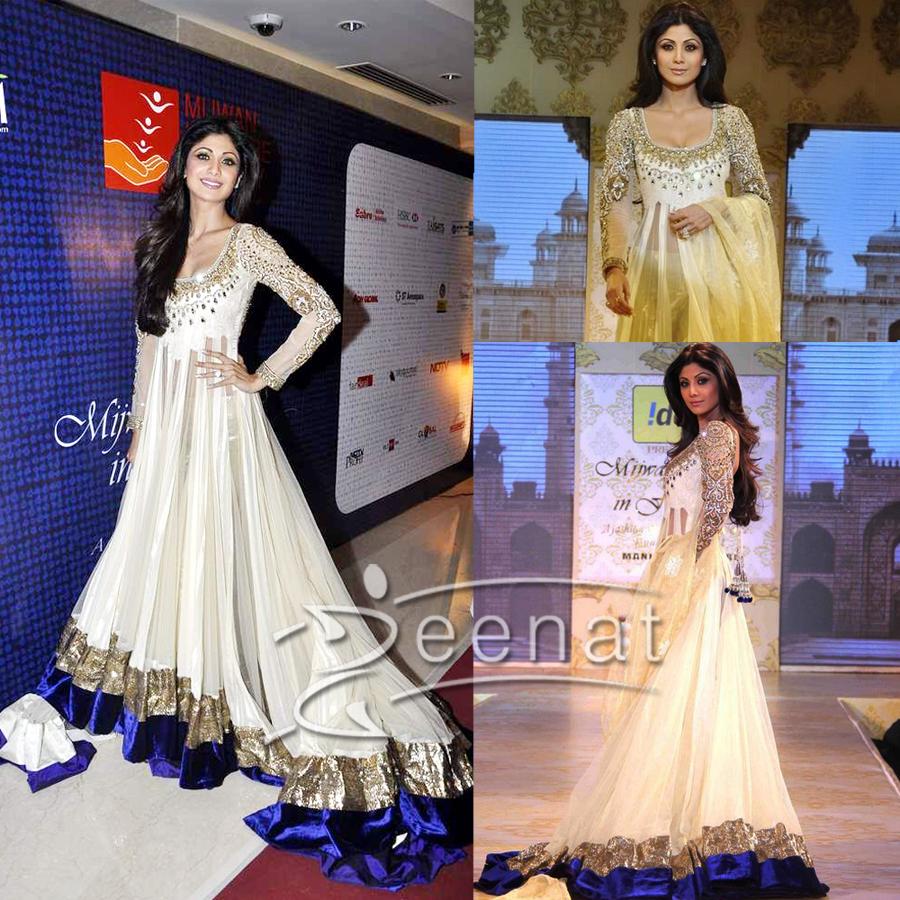 Shilpa In Manish Malhotras Lehenga Design