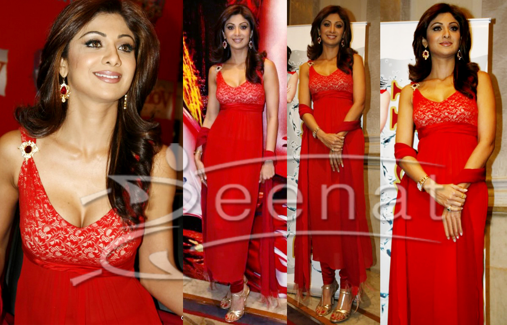 Shilpa Indian Anarkali Redd Style