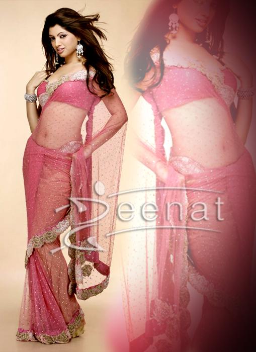 South Indian Akansha Pink Saree