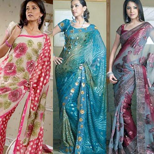 Bold Printed Designer Sarees
