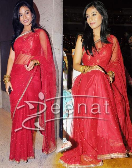 Amrita Rao In Indian Net Saree