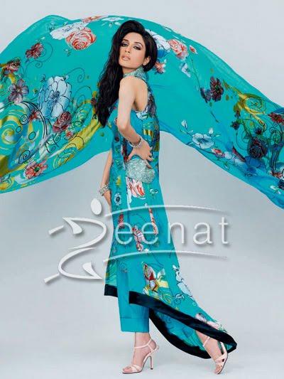 Iman Ali Printed Parallel Suit
