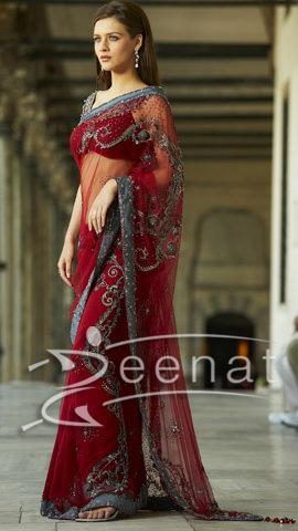 Neha Dalvi Indian Net Saree