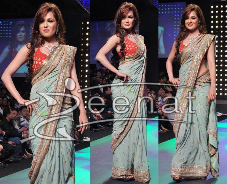 Yuvika Chaudhary In Banarsi Saree