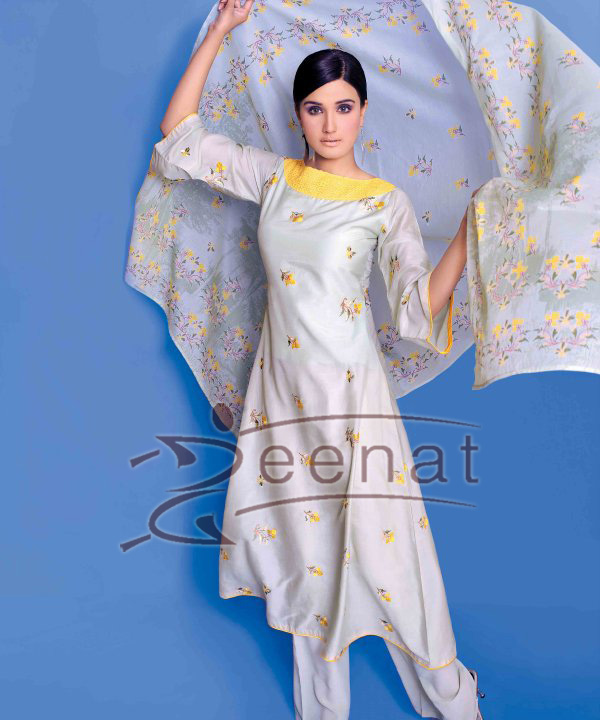 Zara Sheikh Printed Parallel Suit
