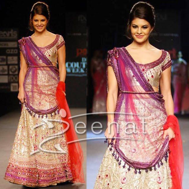 Jacqueline In Ethnic Designer Lehenga Choli Outfit