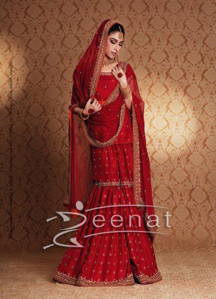 Meesha In Beautiful Red Lehenga