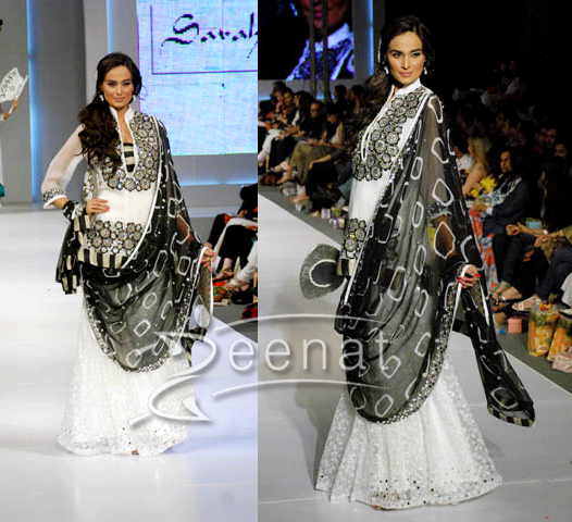 Mehreen Syed In Lehenga Choli by Sarah Salman