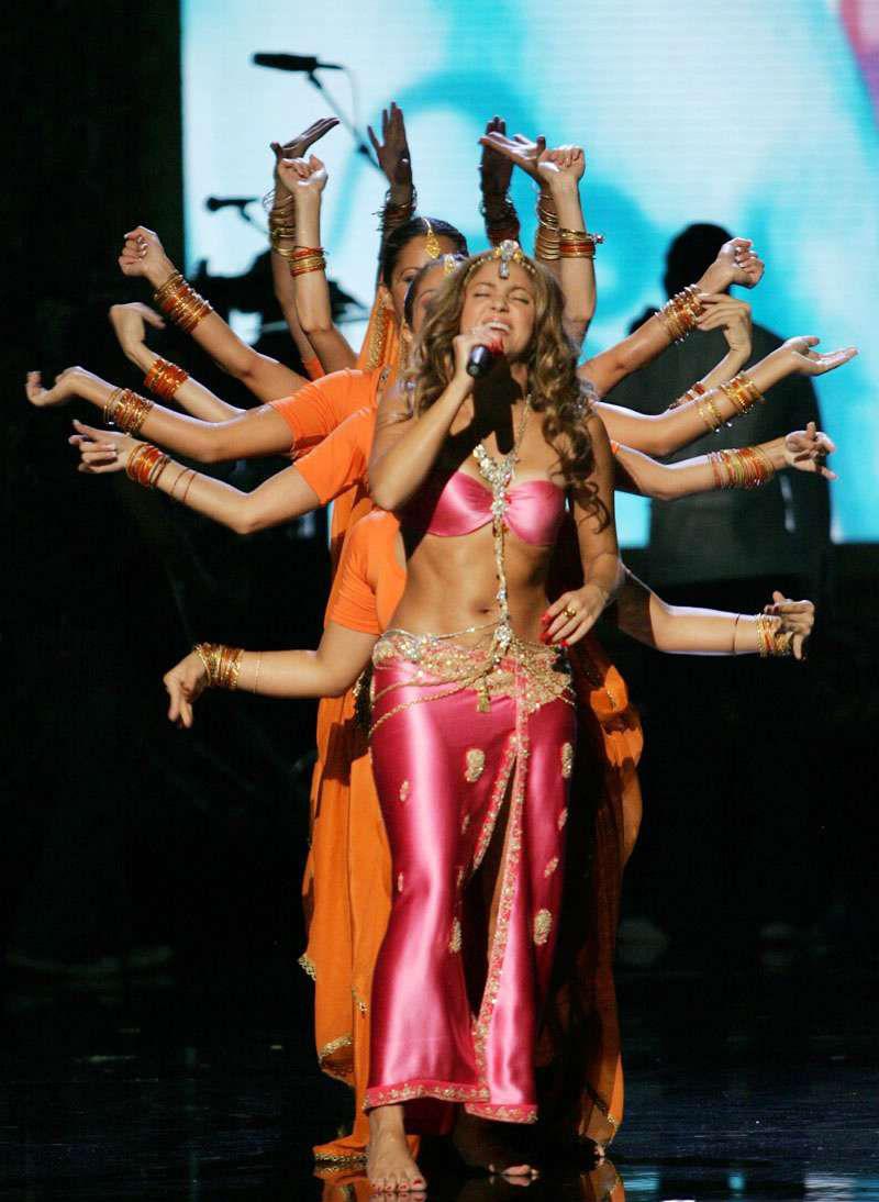 Shakira In Indian Attire   Lehenga Choli