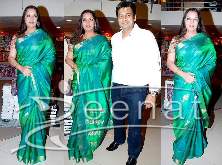 Shabana Azmi Indian Saree Styles
