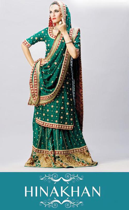 Hina Khan's Bridal Wear Collection 2011-2012 | Nadia Hussain