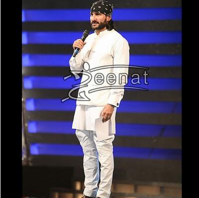 Saif White Kurta Pajama+Dorag-=Disaster