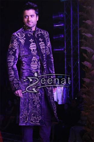 Jackky Bhagnani In Velvet Sherwani