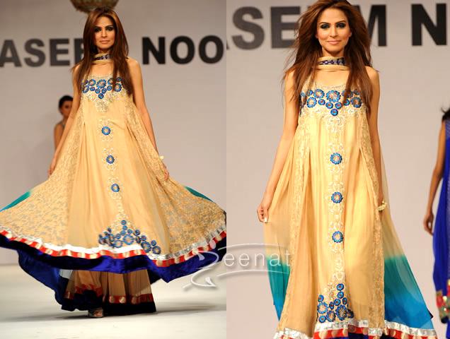 Fauzia Amir A-Line Designer Long Frock