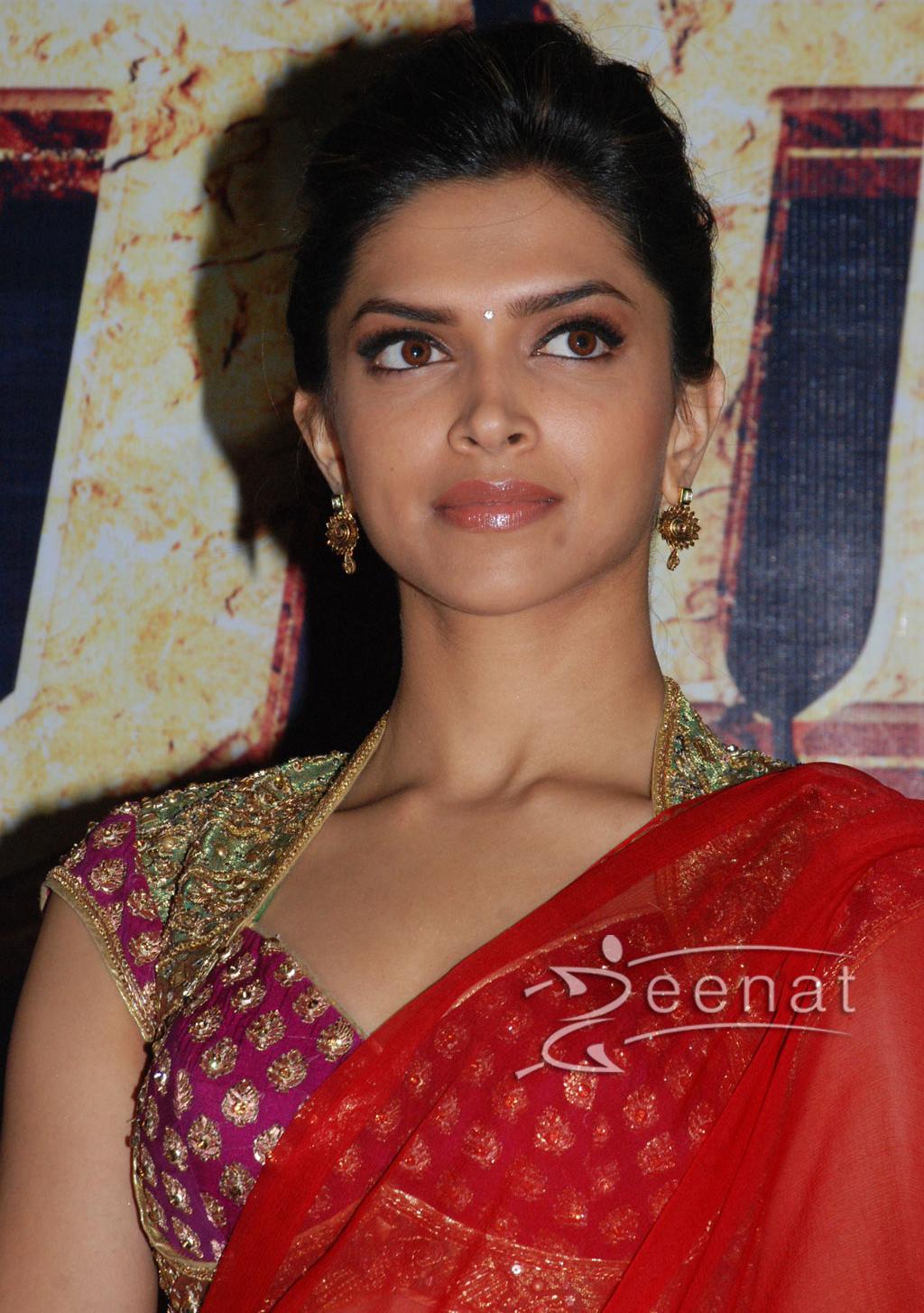 Deepika Padukone Red Saree Designs