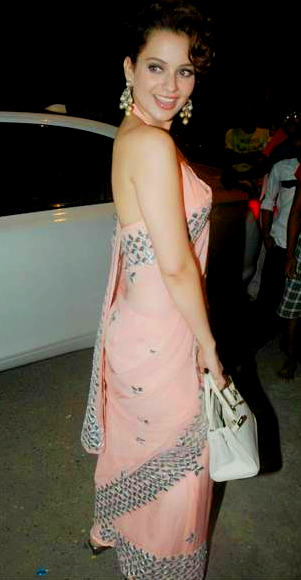 Kangana Ranaut In Designer Saree Blouse