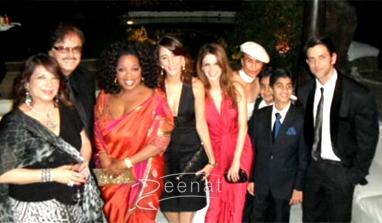 Oprah Winfrey In Saree Indian Visit