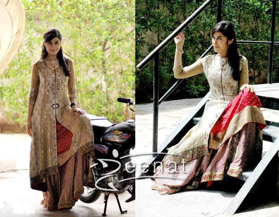 Shaista Wahidi In Designer Long Shirt