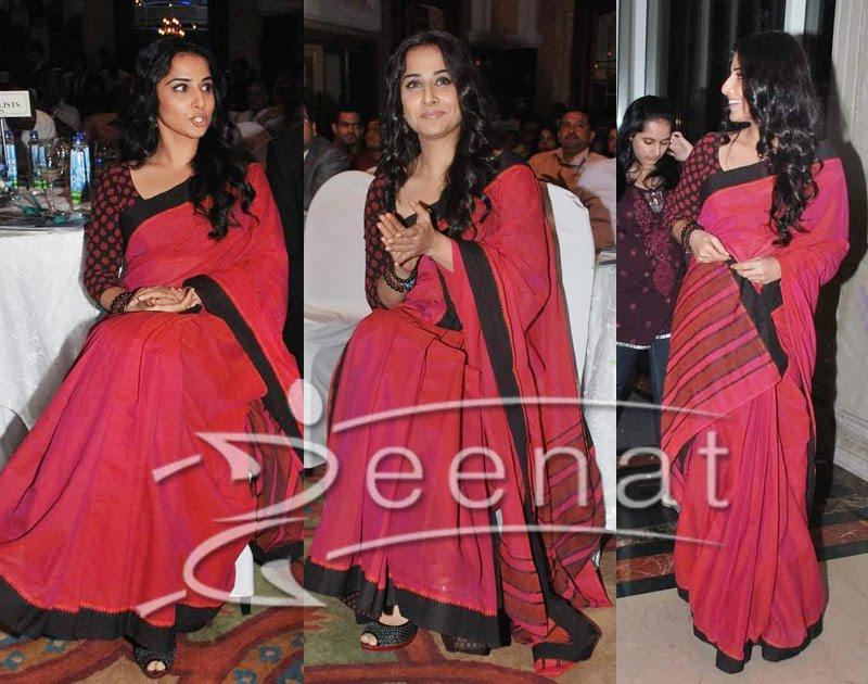 Vidya Balan indian Saree Style