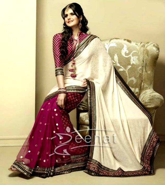 Zarine Khan In Indian Banarsi Sarees