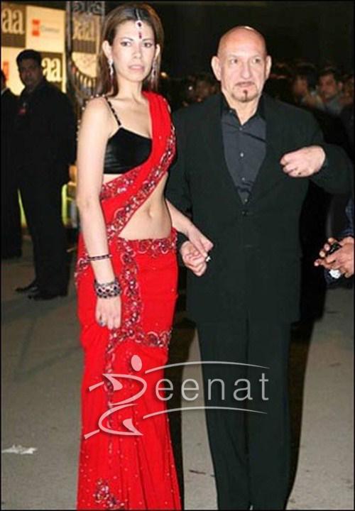 Daniella Kingsley In Red Saree