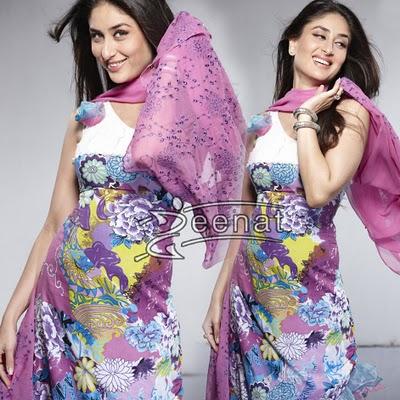 Kareena Kapoor in printed salwar kameez Firdous Lawn