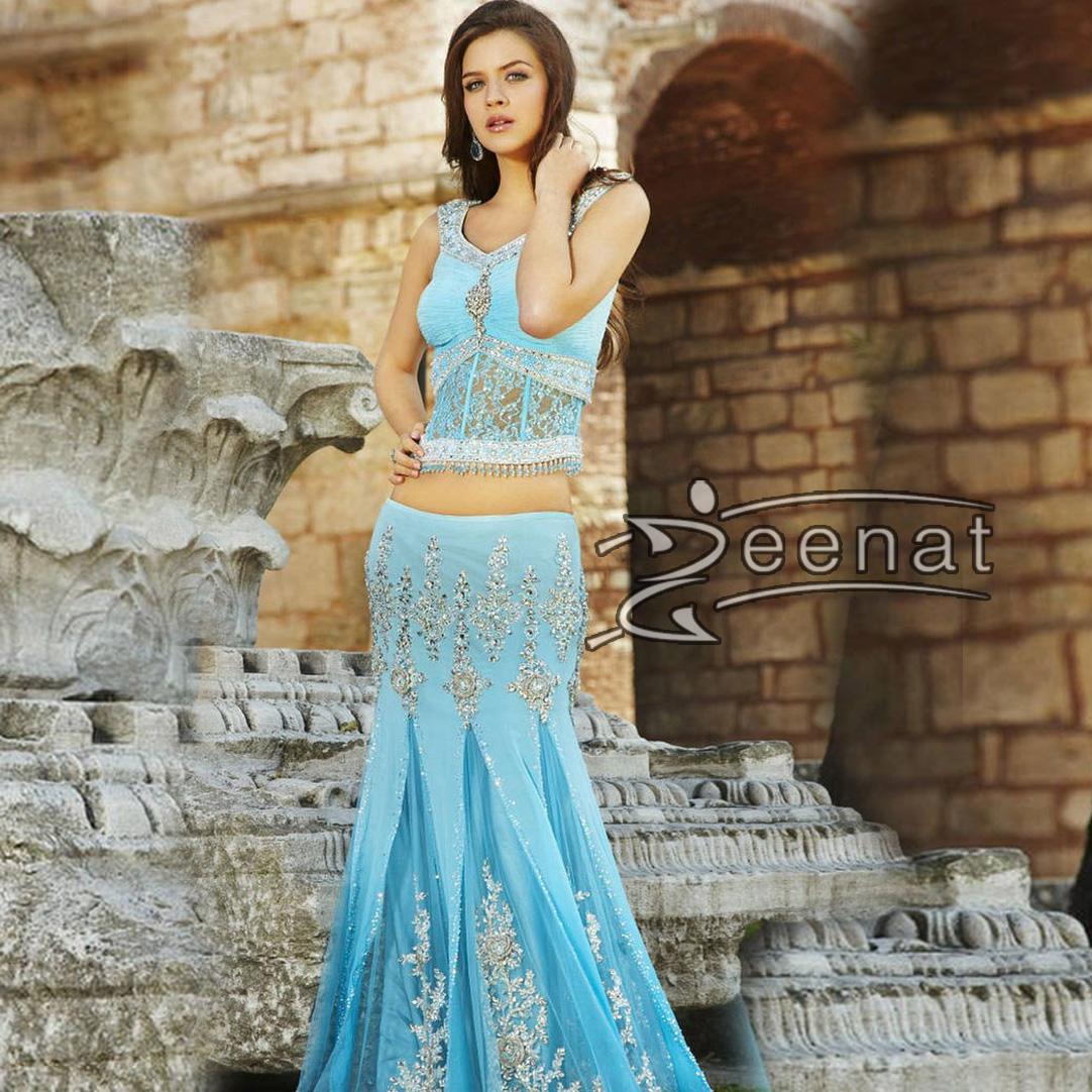 Neha Dalvi In Blue Lehenga Style