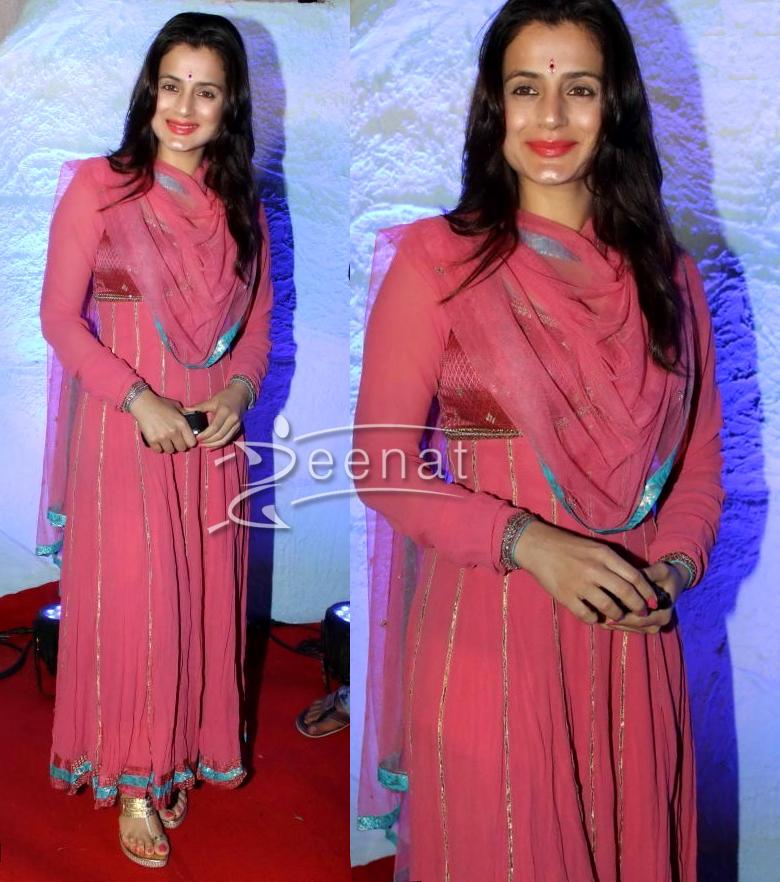 Amisha Patel Pink Anarkali