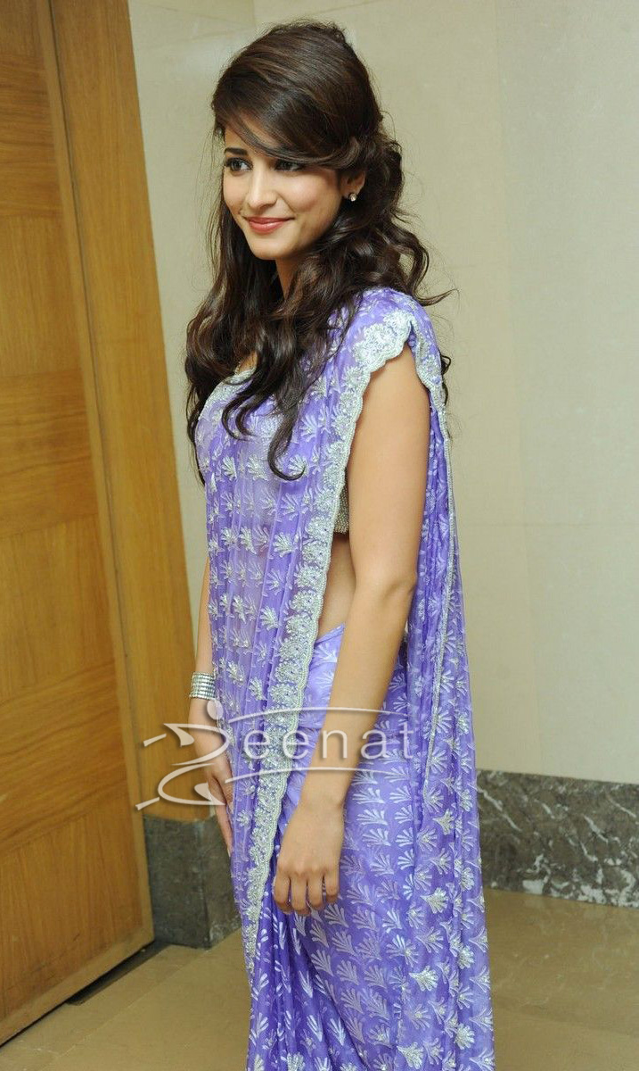 Shruti Hassan In Embroidered Saree Style