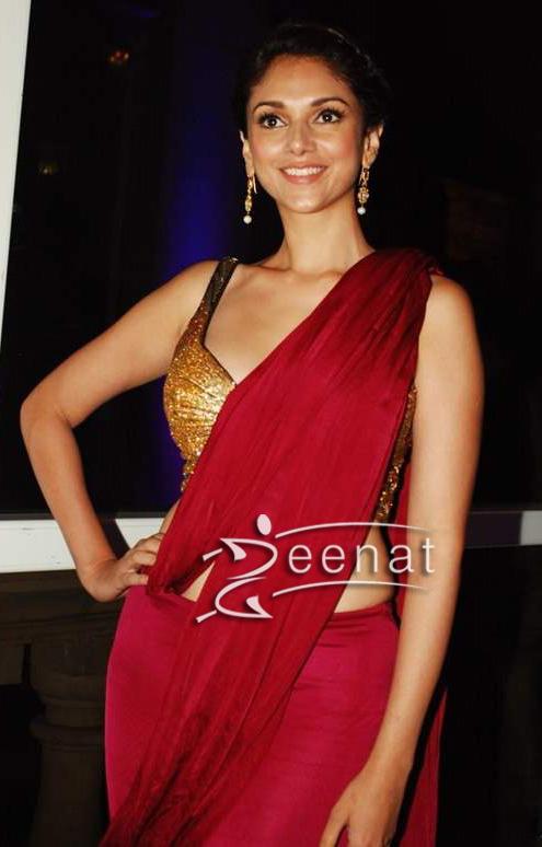 Aditi Rao Hydari In Red Saree