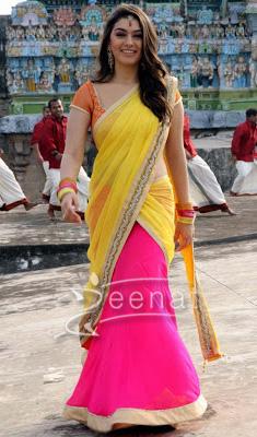 Hansika Matwani In Bollywood Saree