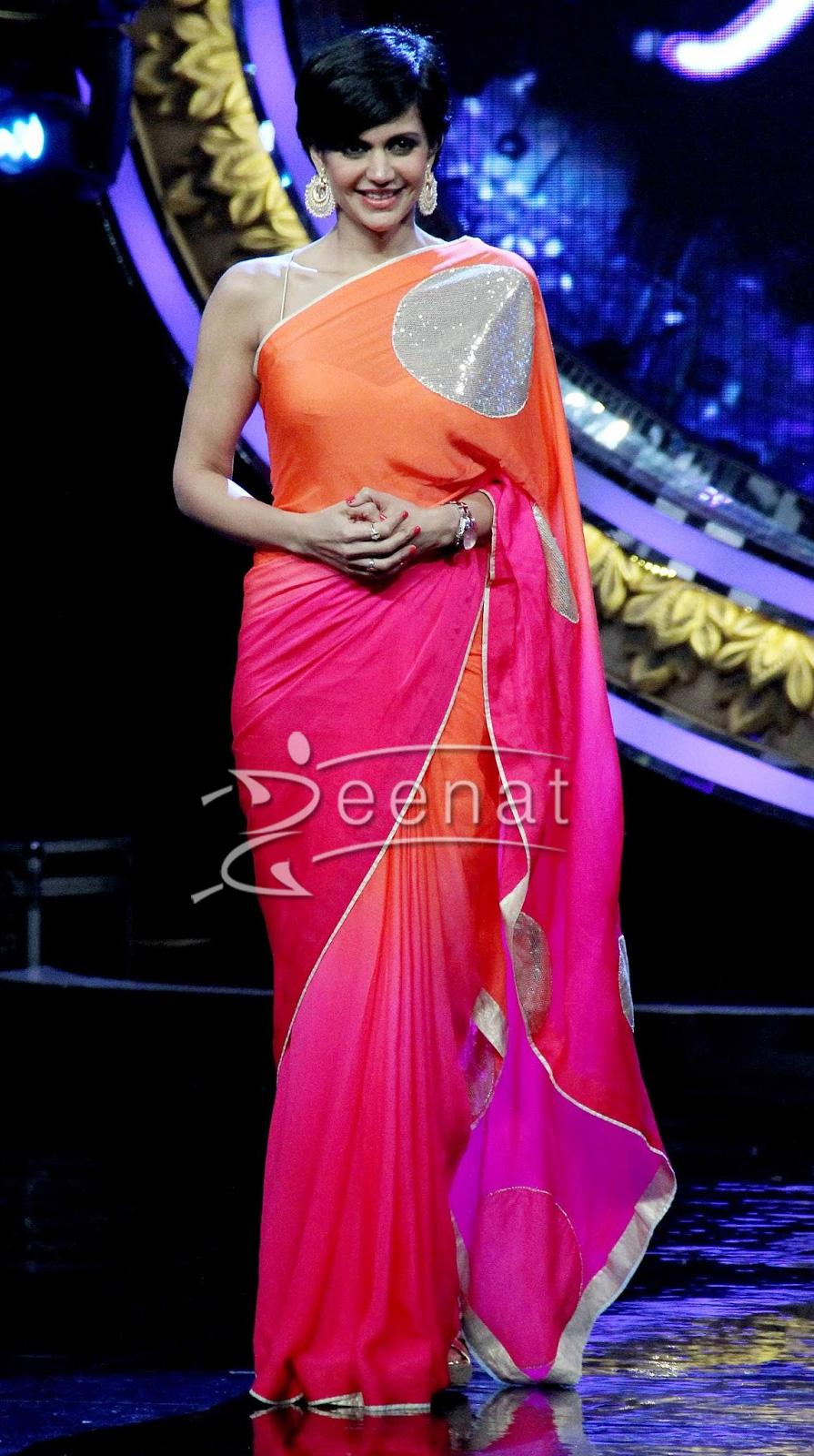 Madira Bedi on the sets of Indian Idol Junior
