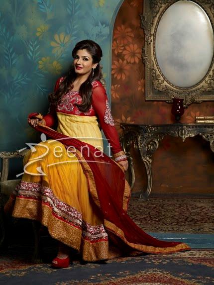 Raveena Tondon In Designer Anarkali Suite 1K