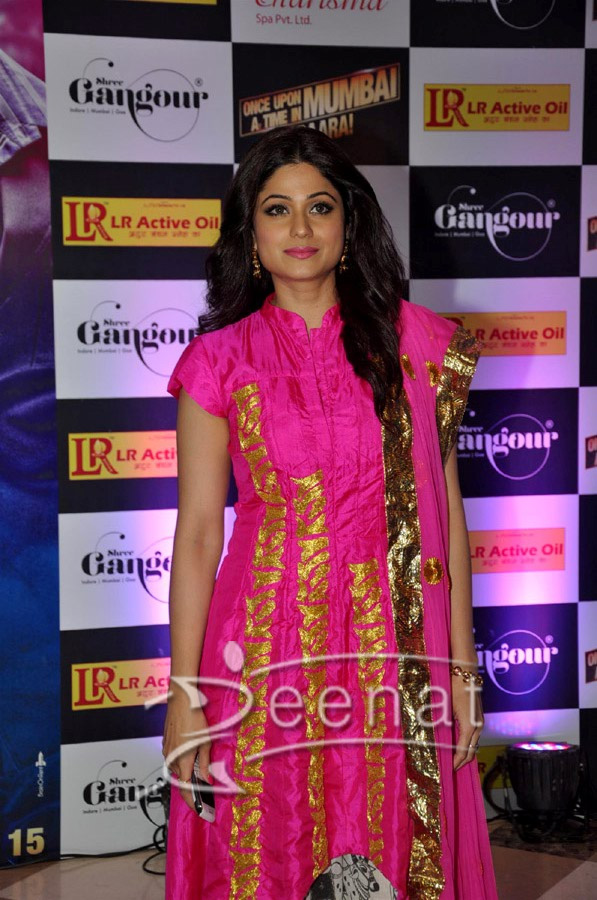 Shamita Shetty In Designer Fish Tail Anarkali