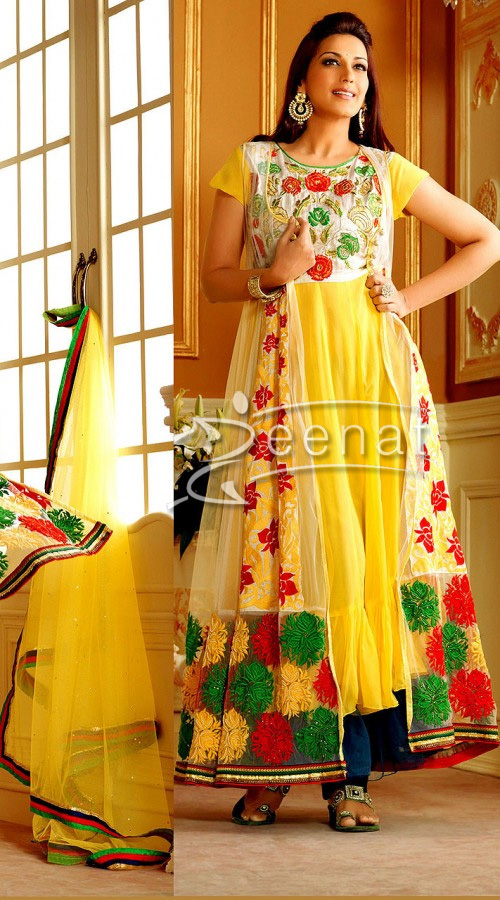Sonali In Bollywood Anarkali Churidar