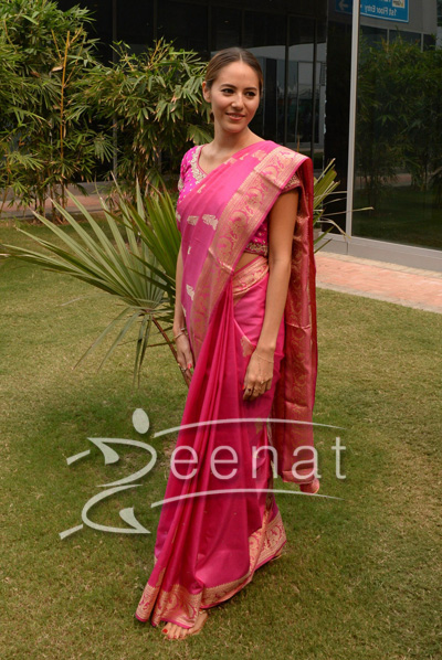 Jessica Mitchibata In Indian Saree