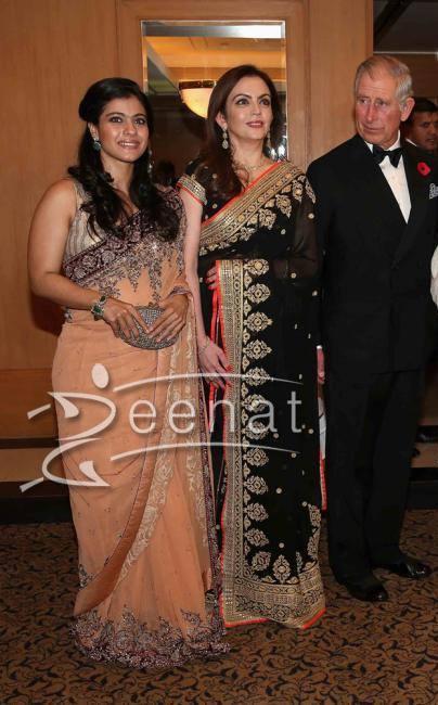 Kajol in Manish Malhotra Saree at British Asian Trust Reception