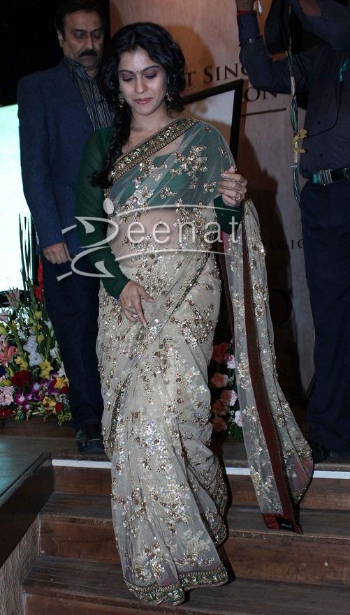 Kajol in Sabyasachi saree at HT Most Stylish Awards 2013