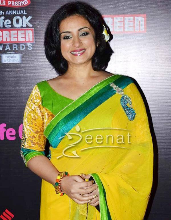 Divya Dutta In Designer Yellow Saree